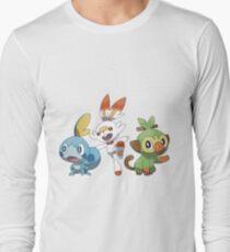 Camiseta de manga larga Pokémon épée, Pokémon Bouclier arrancadores versión amarilla