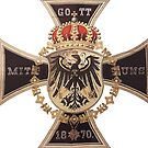 German 1870 Gott mit Uns Iron Cross by edsimoneit