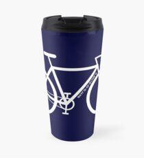White Bike Silhouette Travel Mug