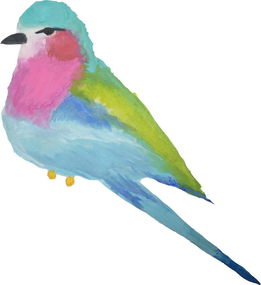 Watercolour bird  by pink-lemonade