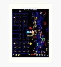 Retro Arcade Split Screen Art Print