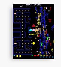 Retro Arcade Split Screen Canvas Print