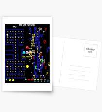 Retro Arcade Split Screen Postcards