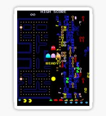 Retro Arcade Split Screen Sticker