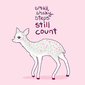 """Small, Shaky Steps Still Count"" Dik Dik Antelope by thelatestkate"