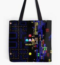 Retro Arcade Split Screen Tote Bag