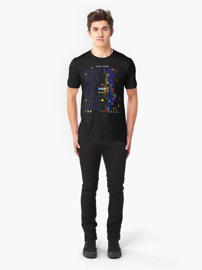 Alternate view of Retro Arcade Split Screen Slim Fit T-Shirt