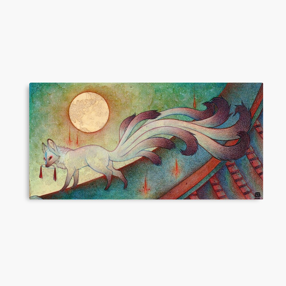 The Messenger - Kitsune, Fox, Yokai Canvas Print