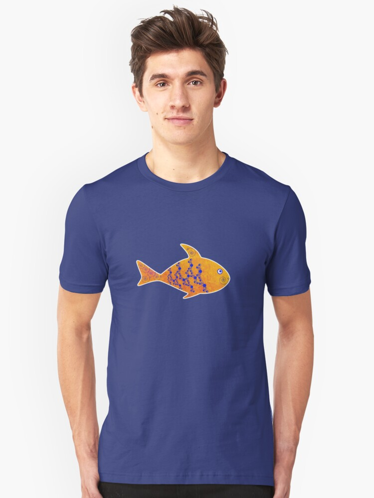 Fish, Flowers and Curls Unisex T-Shirt Front