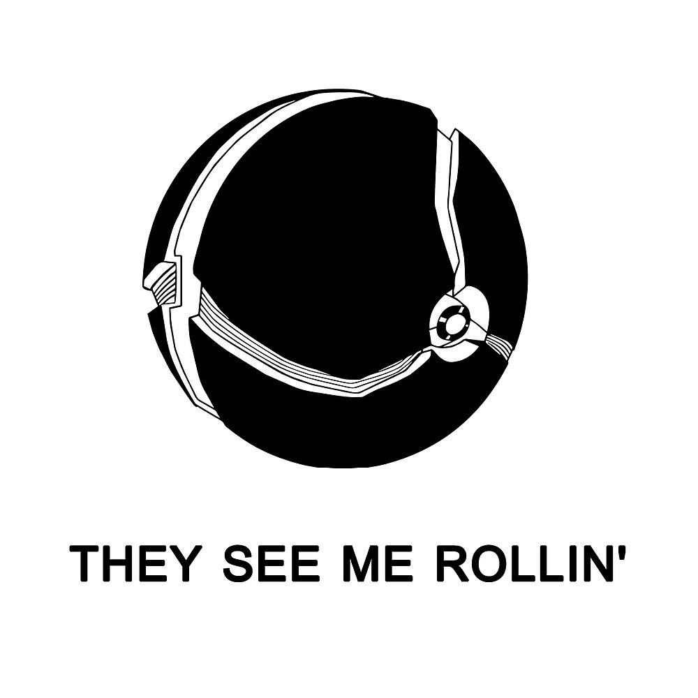 They See Me Rollin' My Morph Ball (Black)  by shadowryo