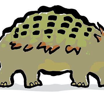 ankylosaurus by greendeer