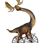 Brachiosaurus Brachiolope on Velocipede by SirLeeTees