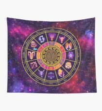 Aries Zodiac Lightburst - Circle Wall Tapestry