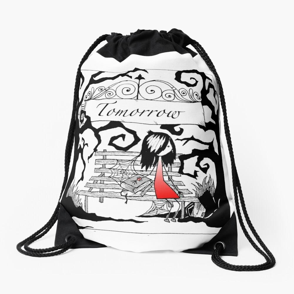 Tomorrow Drawstring Bag Front