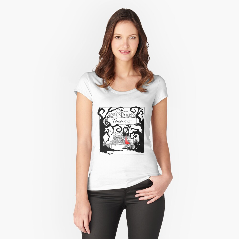 Tomorrow Women's Fitted Scoop T-Shirt Front