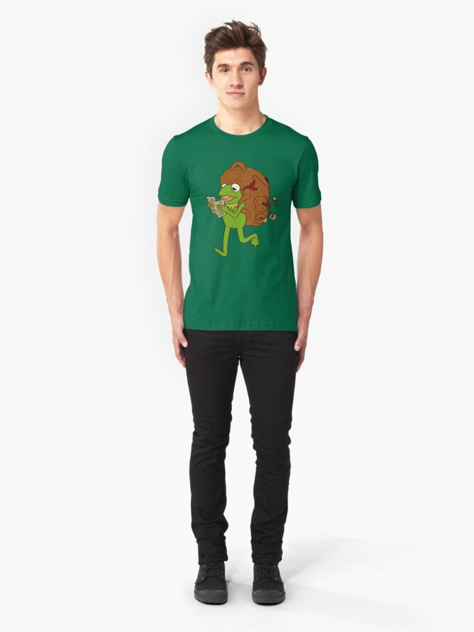 Alternate view of Kermit's movin' right along Slim Fit T-Shirt