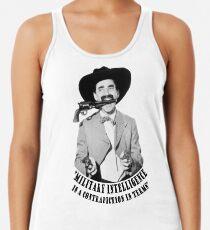 Camiseta con espalda nadadora Groucho Marx Military Intelligence