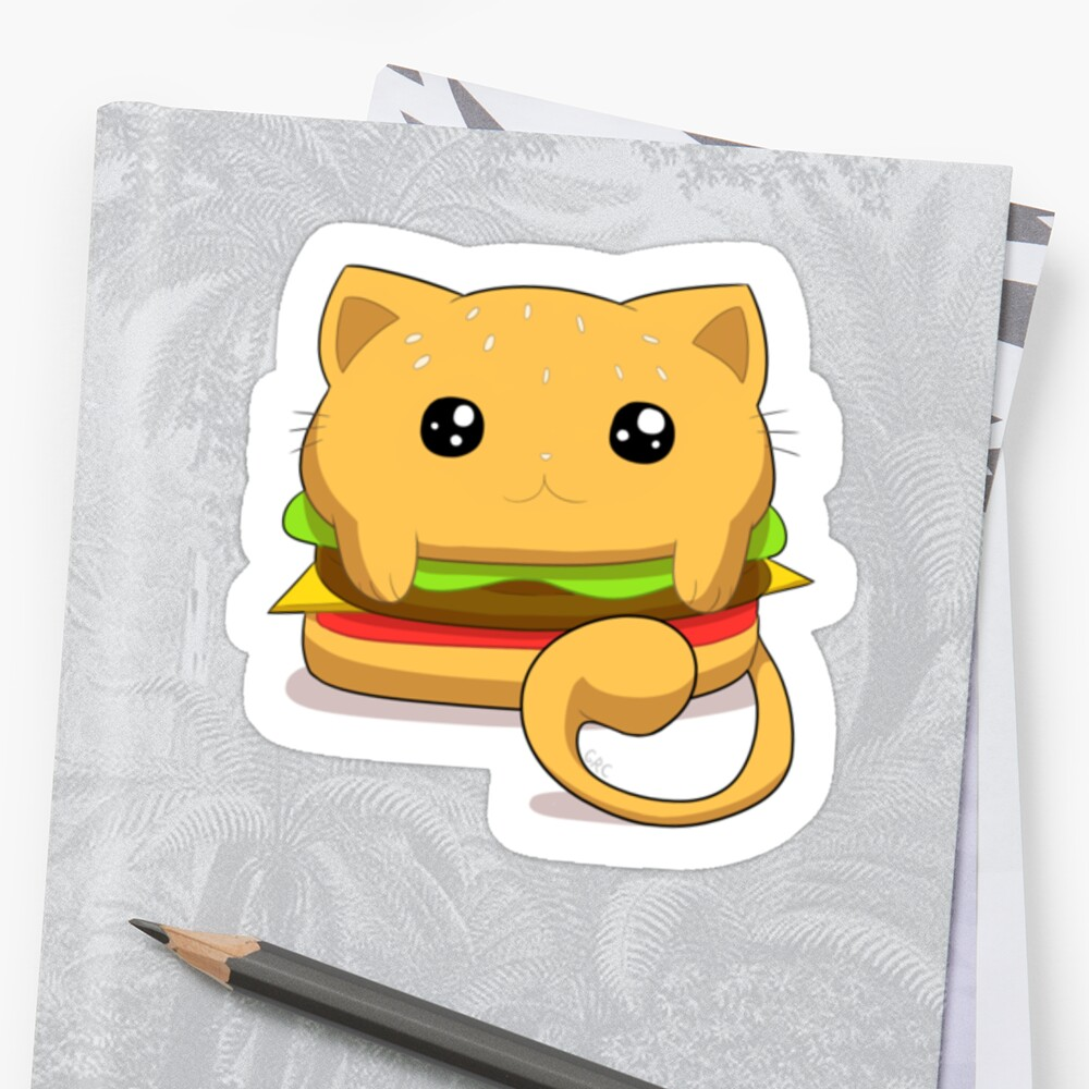 Cheeseburger Cat by Gabby Cabebe