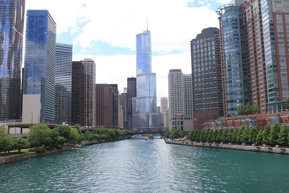 View of Trump tower Chicago by Allybally62
