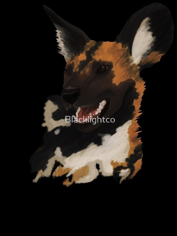 African Wild Dog by Blacklightco