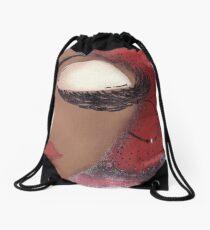 Sassy Girl Crimson and Cream Drawstring Bag