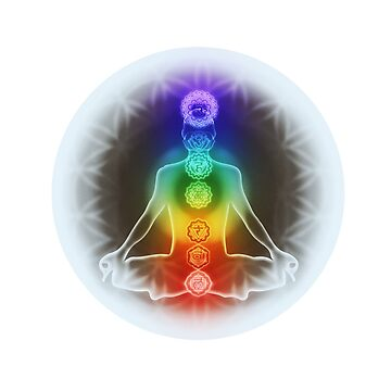 Meditation and the Chakras Opalescent Bliss by DanJohnDesign