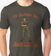 I'd Rather Be Killing Communists, Reagan Style T-Shirt
