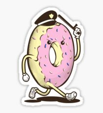 Donut Run From The Law Sticker