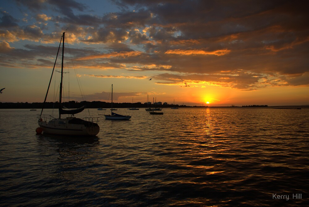 Morning over Westernport Bay by Kerry  Hill