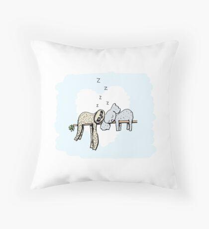 Koala and Sloth Sleeping Floor Pillow