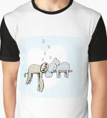 Koala and Sloth Sleeping Graphic T-Shirt