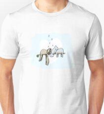 Koala and Sloth Sleeping Slim Fit T-Shirt