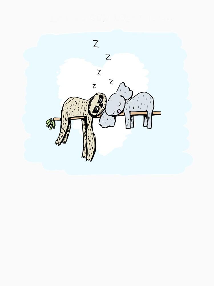 Koala and Sloth Sleeping by eddcross