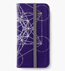 Metatron's Cube [Tight Cluster Galaxy] | Sacred Geometry iPhone Flip-Case/Hülle/Klebefolie