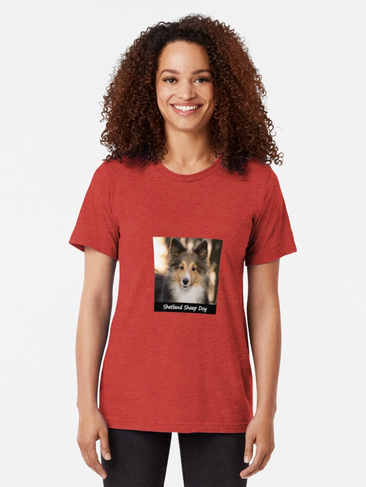 Alternate view of Shetland Sheep Dog Tri-blend T-Shirt