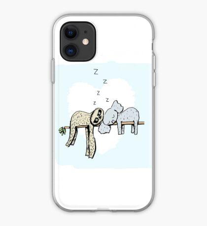 Koala and Sloth Sleeping iPhone Case