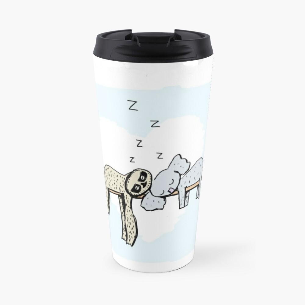 Koala and Sloth Sleeping Travel Mug