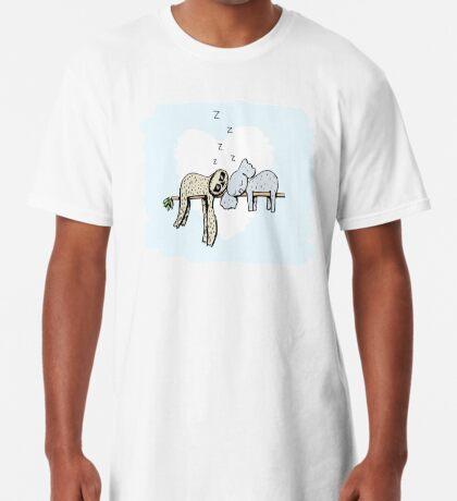 Koala and Sloth Sleeping Long T-Shirt