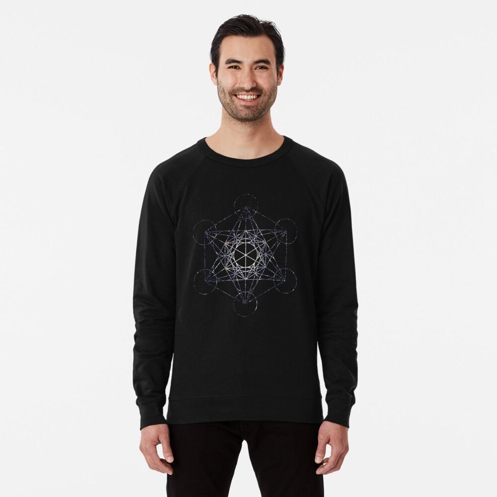Metatron's Cube Star Cluster - Sacred Geometry Lightweight Sweatshirt