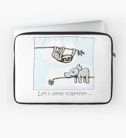 Koala and Sloth - Sleep Together Laptop Sleeve