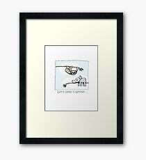 Koala and Sloth - Sleep Together Framed Print