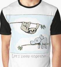 Koala and Sloth - Sleep Together Graphic T-Shirt