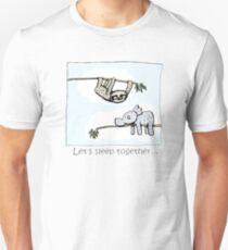Koala and Sloth - Sleep Together Slim Fit T-Shirt