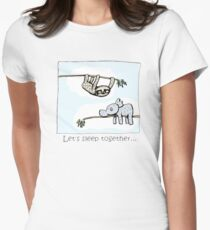 Koala and Sloth - Sleep Together Fitted T-Shirt