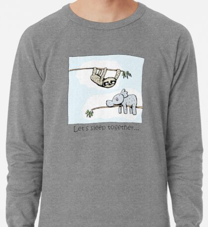 Koala and Sloth - Sleep Together Lightweight Sweatshirt