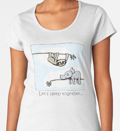 Koala and Sloth - Sleep Together Premium Scoop T-Shirt