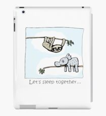 Koala and Sloth - Sleep Together iPad Case/Skin