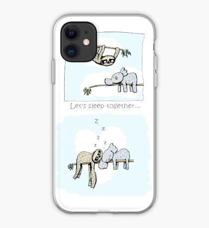 Koala and Sloth - Sleeping Together Cartoon iPhone Case
