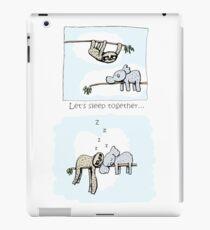 Koala and Sloth - Sleeping Together Cartoon iPad Case/Skin