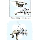 Koala and Sloth - Sleeping Together Cartoon by eddcross